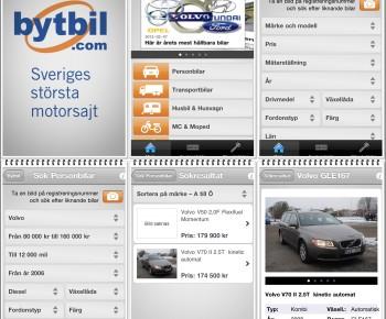 Bytbil.com i fickformat