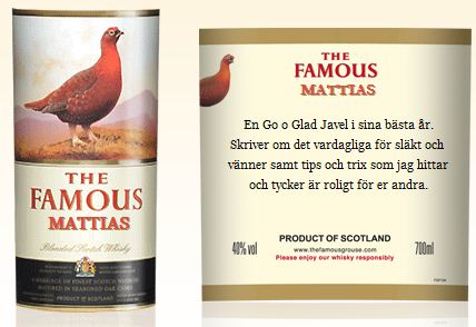 Personifiera The Famous Grouse