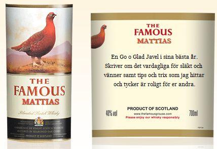 famous grouse etikett sverige